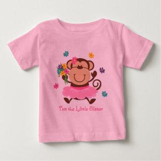 Camiseta Para Bebê Irmã mais nova do macaco