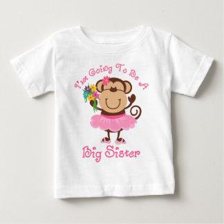 Camiseta Para Bebê Irmã mais velha do futuro do macaco