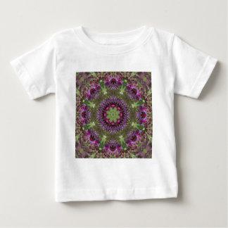 Camiseta Para Bebê Ironweed gigante, caleidoscópio do Wildflower