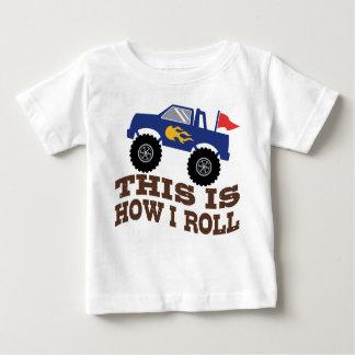 Camiseta Para Bebê Isto é como eu rolo o monster truck