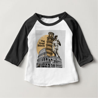 Camiseta Para Bebê Italia, a grande beleza