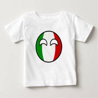 Camiseta Para Bebê Italia Geeky de tensão engraçada Countryball