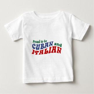 Camiseta Para Bebê Italiano cubano