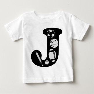 Camiseta Para Bebê j inicial