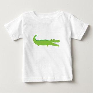 Camiseta Para Bebê Jacaré verde