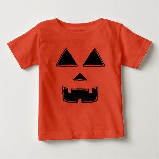 Camiseta Para Bebê Jackolantern feliz enfrenta