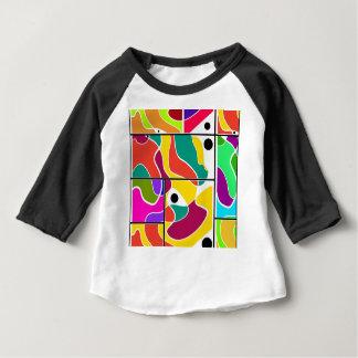 Camiseta Para Bebê Janelas coloridas