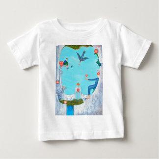 Camiseta Para Bebê Jardim do paraíso
