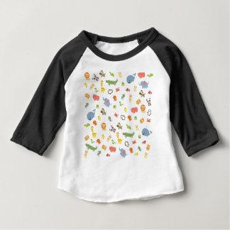 Camiseta Para Bebê Jardim zoológico