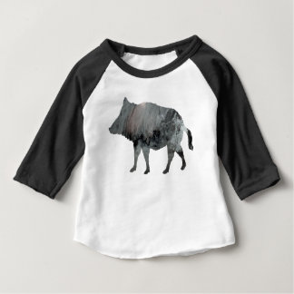 Camiseta Para Bebê Javali