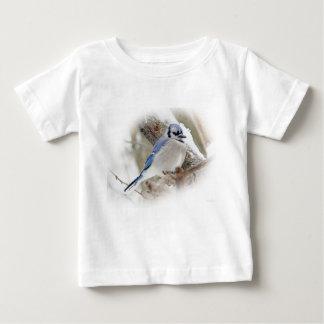 Camiseta Para Bebê Jay azul na neve do inverno