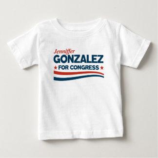 Camiseta Para Bebê Jenniffer Gonzalez