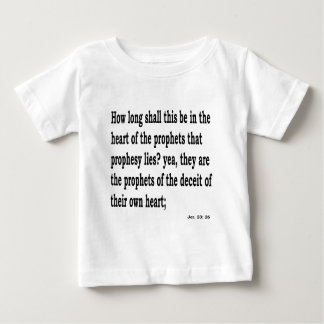Camiseta Para Bebê Jer. 23:26