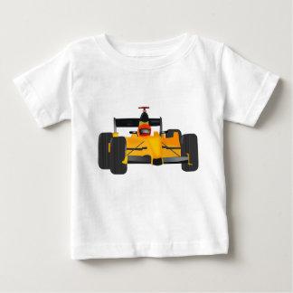 Camiseta Para Bebê Jérsei do bebê com o carro de corridas grphic na
