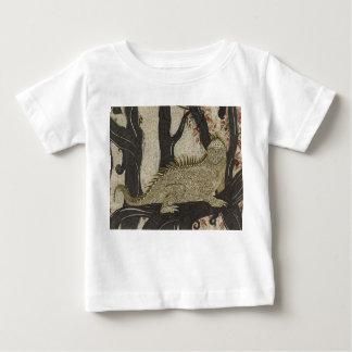 Camiseta Para Bebê Jérsei do bebê do impressão da tinta da iguana