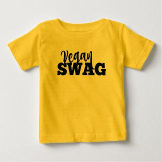 Camiseta Para Bebê Jérsei do bebê dos GANHOS do VEGAN