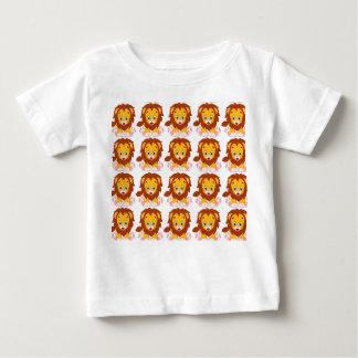 Camiseta Para Bebê Jérsei fino do bebê, t-shirt do leão do bebê,