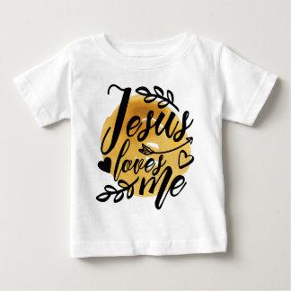 Camiseta Para Bebê Jesus ama-me