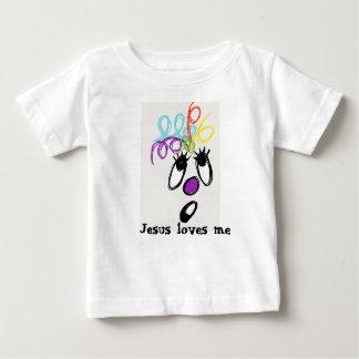Camiseta Para Bebê Jesus ama-me monstro louco do cabelo
