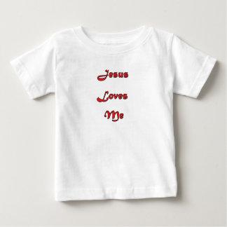 Camiseta Para Bebê Jesus ama-me T do bebê