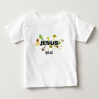 Camiseta Para Bebê Jesus assustador