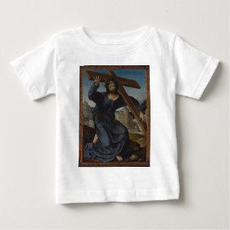 Camiseta Para Bebê Jesus Cristo com cruz