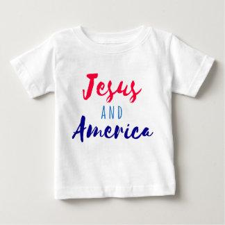 Camiseta Para Bebê Jesus e t-shirt de América