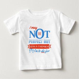 Camiseta Para Bebê Jesus pensa que eu devo morrer para