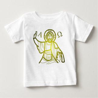 Camiseta Para Bebê Jesus salvar alfa e Omega