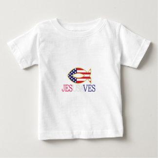 Camiseta Para Bebê Jesusaves