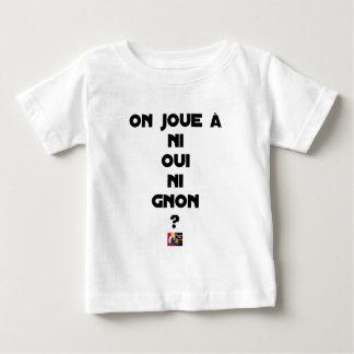 Camiseta Para Bebê JOGA-SE NEM SIM NEM À GNON? - Jogos de palavras -
