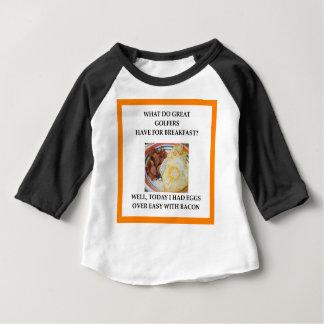Camiseta Para Bebê jogador de golfe