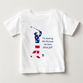 Camiseta Para Bebê Jogador de golfe do americano do golfe dos EUA
