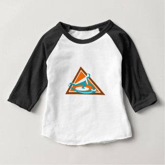 Camiseta Para Bebê Jogador de ondulação que desliza o ícone de pedra