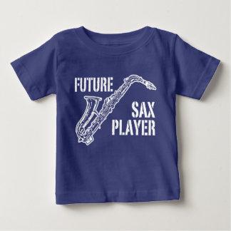 Camiseta Para Bebê Jogador de saxofone futuro