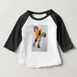 Camiseta Para Bebê jogador do lacrosse