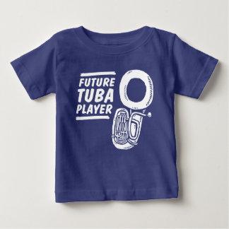 Camiseta Para Bebê Jogador futuro da tuba