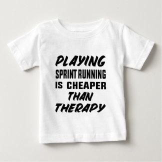 Camiseta Para Bebê Jogar o corredor de Sprint é mais barato do que a