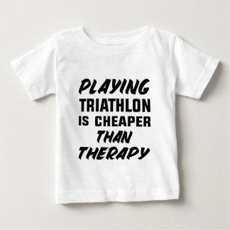 Camiseta Para Bebê Jogar o Triathlon é mais barato do que a terapia