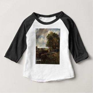 Camiseta Para Bebê John Constable - o fechamento - paisagem do campo