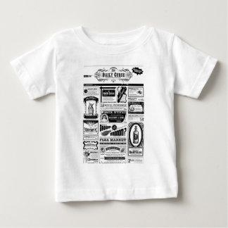 Camiseta Para Bebê jornal assustador