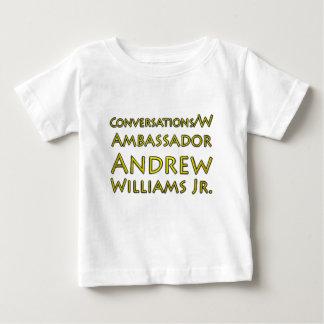 Camiseta Para Bebê Jr. das conversações w/Ambassador Andrew Williams
