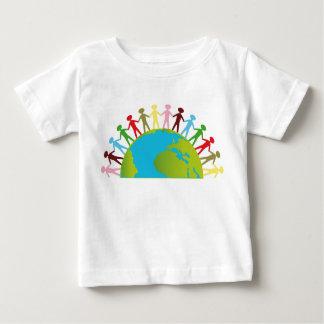 Camiseta Para Bebê Junto nós podemos mudar o t-shirt do mundo para