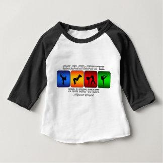 Camiseta Para Bebê Karaté legal é um modo de vida