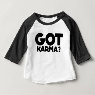 Camiseta Para Bebê Karmas obtidas, palavras do texto