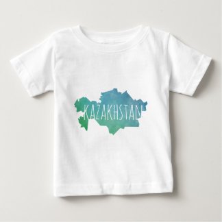Camiseta Para Bebê Kazakhstan