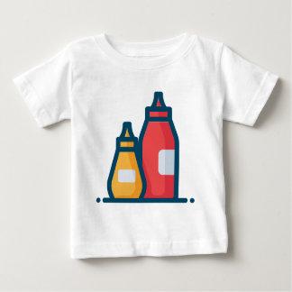 Camiseta Para Bebê Ketchup e mostarda