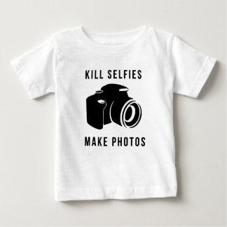 Camiseta Para Bebê Kill selfies