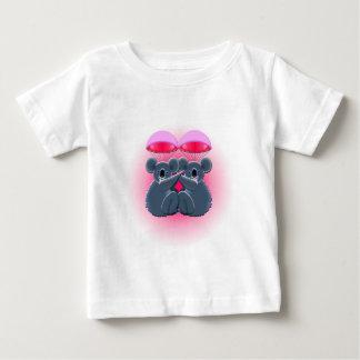 Camiseta Para Bebê koalas de afago bonitos de salto de pára-quedas