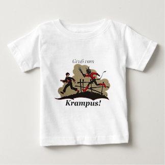 Camiseta Para Bebê Krampus persegue o miúdo